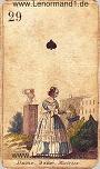 Die Dame antike Lenormandkarten