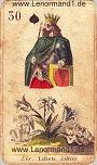 Lilie von den antiken Lenormandkarten