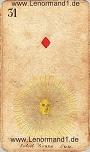 Sonne von den antiken Lenormandkarten