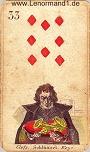 Schlüssel von den antiken Lenormandkarten