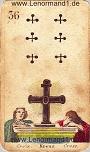 Kreuz von den antiken Lenormandkarten