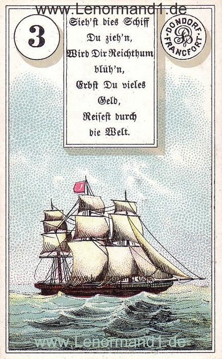 Das Schiff Dondorf Verse Lenormand Tageskarte heute