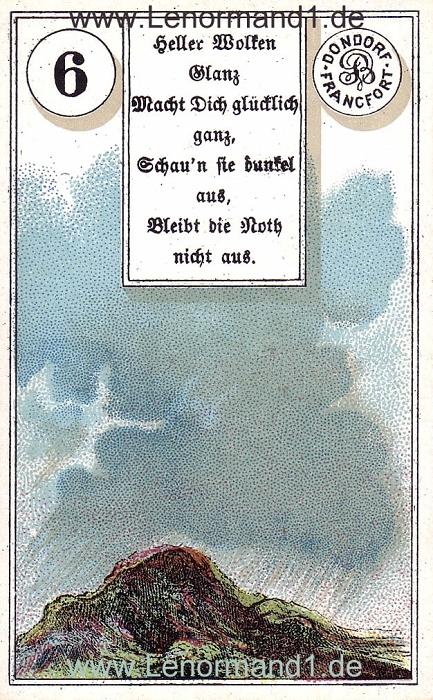 Die Wolken Dondorf Verse Lenormand Tageskarte heute