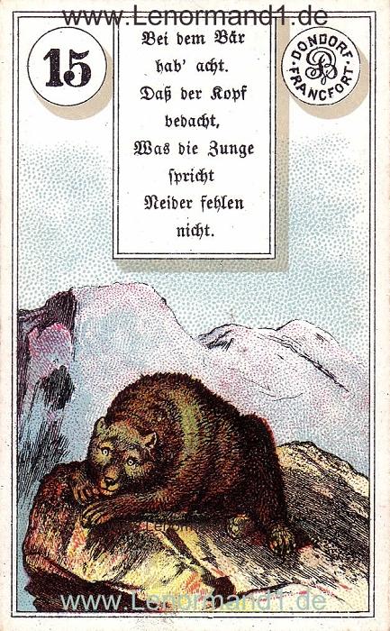 Der Bär ist Ihr Tageshoroskop