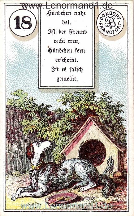 Der Hund Dondorf Verse Lenormand Tageskarte heute
