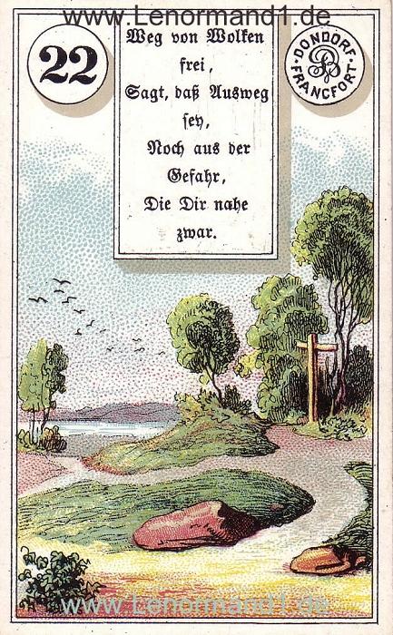Die Wege Dondorf Verse Lenormand Tageskarte heute