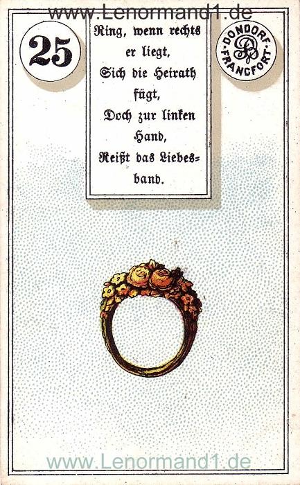 Der Ring von dem antiken Dondorf Lenormand mit Versen