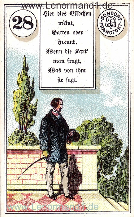 Der Herr von dem antiken Dondorf Lenormand mit Versen