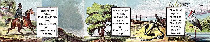 Ja Nein Orakel von dem antiken Dondorf Lenormand mit Versen