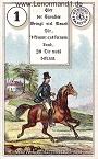 Der Reiter antike Dondorf Lenormandkarten mit Versen