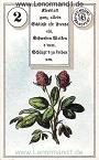 Klee von den antiken Dondorf Lenormandkarten mit Versen