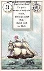 Das Schiff antike Dondorf Lenormandkarten mit Versen