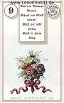 Blumen von dem antiken Dondorf Lenormand mit Versen