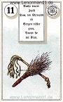 Ruten von den antiken Dondorf Lenormandkarten mit Versen