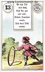Kind von den antiken Dondorf Lenormandkarten mit Versen