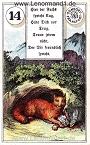 Fuchs von den antiken Dondorf Lenormandkarten mit Versen