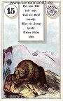 Bär von den antiken Dondorf Lenormandkarten mit Versen