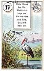 Storch von dem antiken Dondorf Lenormand mit Versen