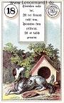 Hund von den antiken Dondorf Lenormandkarten mit Versen