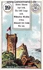 Turm von dem antiken Dondorf Lenormand mit Versen
