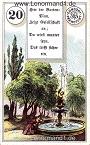 Park von den antiken Dondorf Lenormandkarten mit Versen