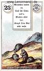 Mäuse von den antiken Dondorf Lenormandkarten mit Versen