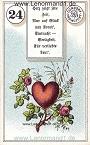 Herz von dem antiken Dondorf Lenormand mit Versen