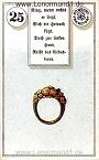 Ring von dem antiken Dondorf Lenormand mit Versen