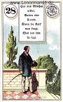 Herr von den antiken Dondorf Lenormandkarten mit Versen