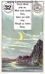 Mond von dem antiken Dondorf Lenormand mit Versen