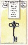 Schlüssel von dem antiken Dondorf Lenormand mit Versen