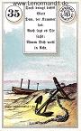 Anker von den antiken Dondorf Lenormandkarten mit Versen