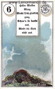 Wolken, antikes Dondorf Lenormand mit Versen