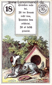, antikes Dondorf Lenormand mit Versen