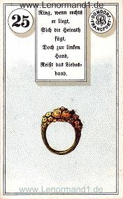 Ring, antikes Dondorf Lenormand mit Versen