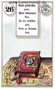 Buch, antikes Dondorf Lenormand mit Versen