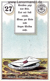 Brief, antikes Dondorf Lenormand mit Versen