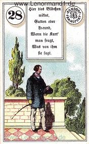 Herr, antikes Dondorf Lenormand mit Versen