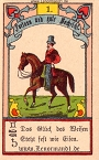 Der Reiter antike Lenormandkarten von Gustav Kühn