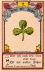 Der Klee antike Lenormandkarten von Gustav Kühn