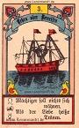 Das Schiff antike Lenormandkarten von Gustav Kühn