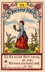 Die Dame antike Lenormandkarten von Gustav Kühn