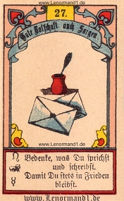 Brief, Gustav Kühn Lenormand