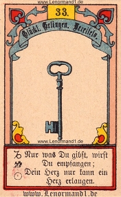 Schlüssel, Gustav Kühn Lenormand