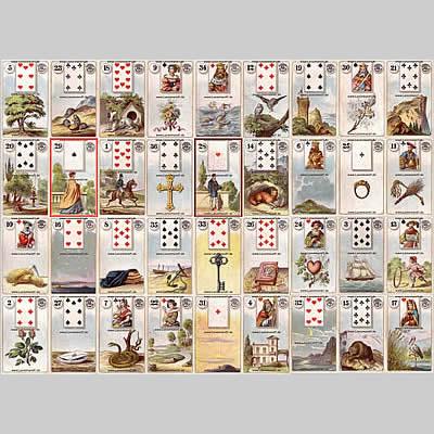 lenormandkarten große tafel