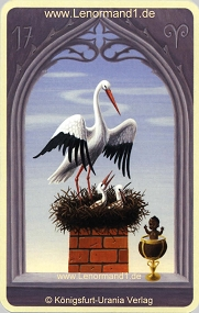 Storch, Mystisches Lenormand