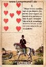 Der Reiter antike Petit Jeu de la Madame Lenormand Karten