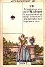 Die Dame antike Petit Jeu de la Madame Lenormand Karten
