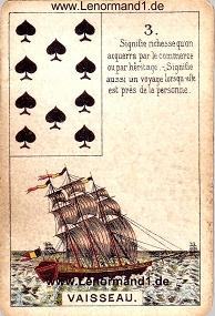 Schiff, antikes Petit Jeu de la Madame Lenormand