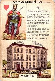 Haus, antikes Petit Jeu de la Madame Lenormand